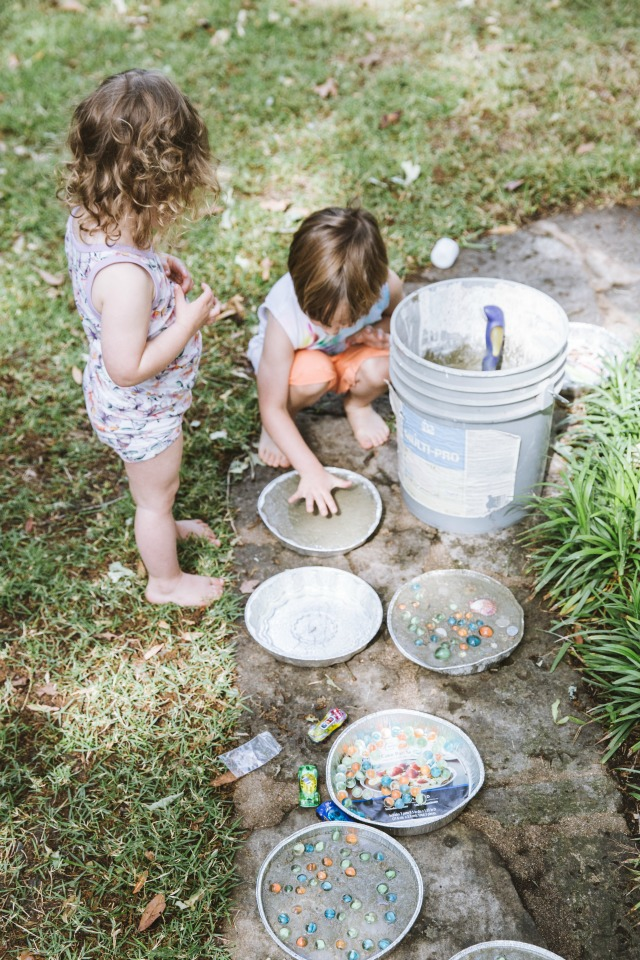 How to make stepping stones with kids