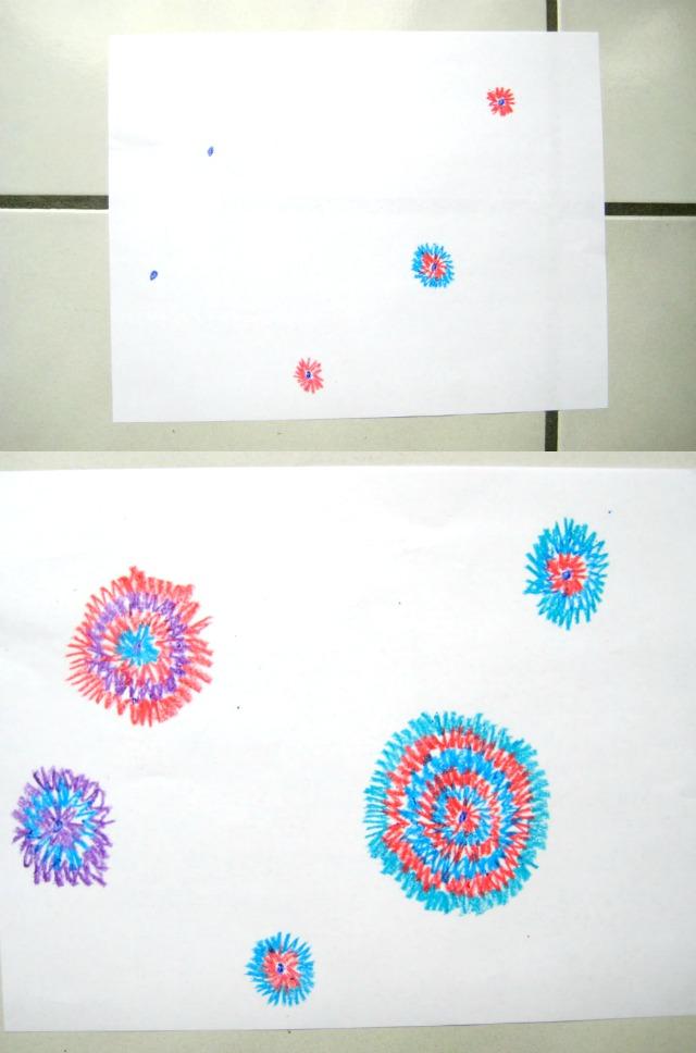 crazy crayon circles