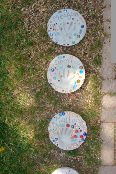 kid made stepping stones