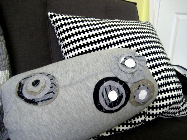 DIY neck roll pillow