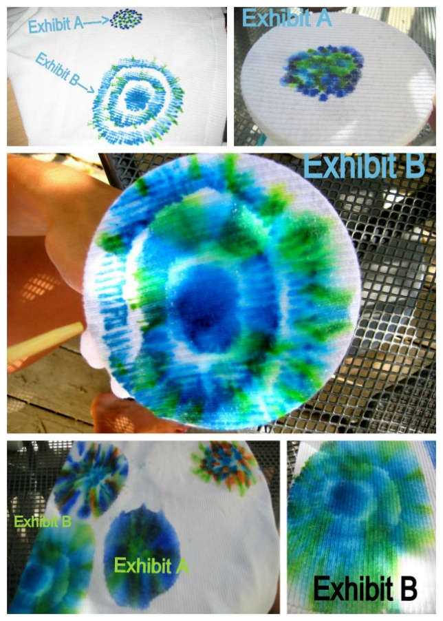 Sharpie tie dye effects
