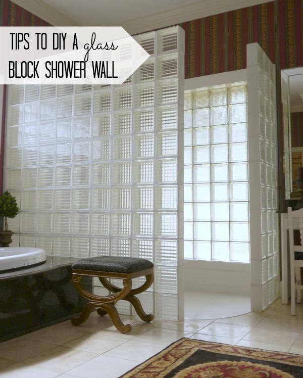 Gl Block Shower Wall