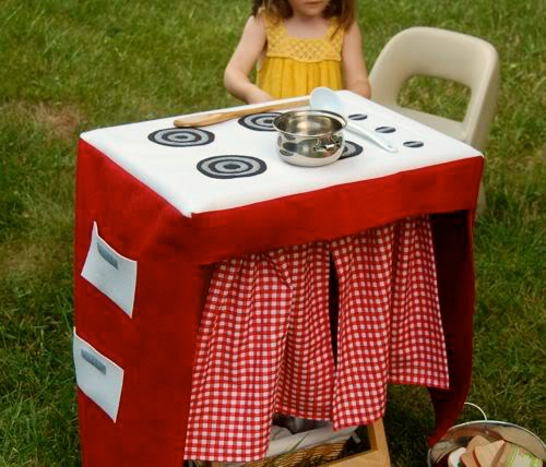DIY Play Kitchen that folds up