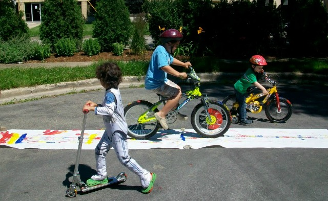 paint with a bike