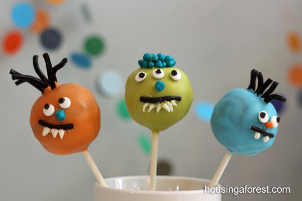 DIY monster cake pops