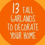 Fall Garland  {thanksgiving crafts}