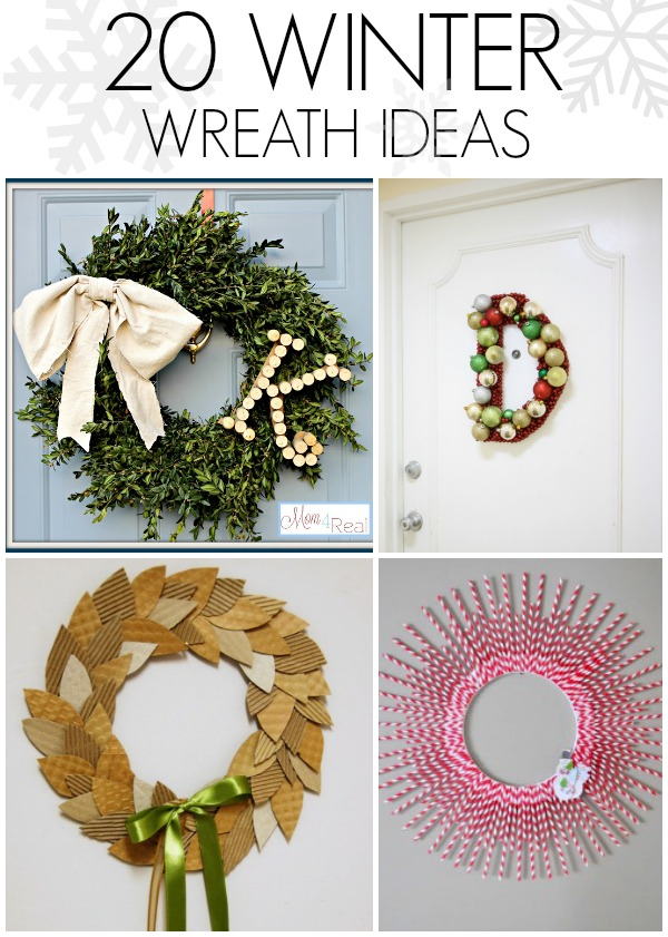 20 DIY winter wreath ideas