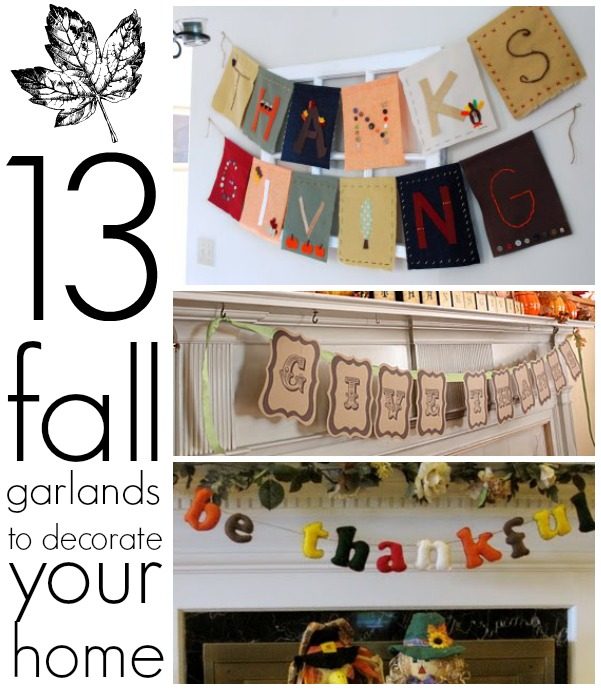 13 fall garlands to decorate your home