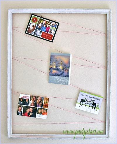 DIY Display Christmas cards