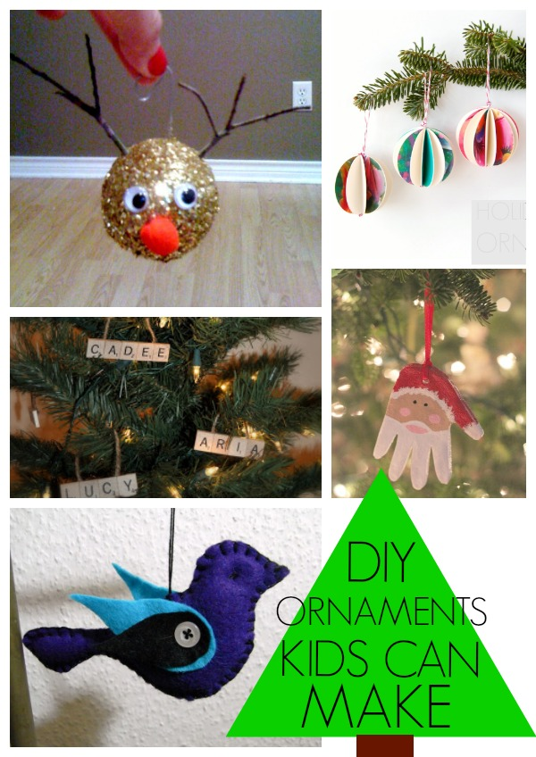 DIY Christmas Ornaments that kids can make!
