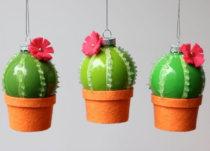 DIY cactus ornament