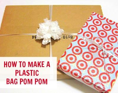 Plastic bag pom pom