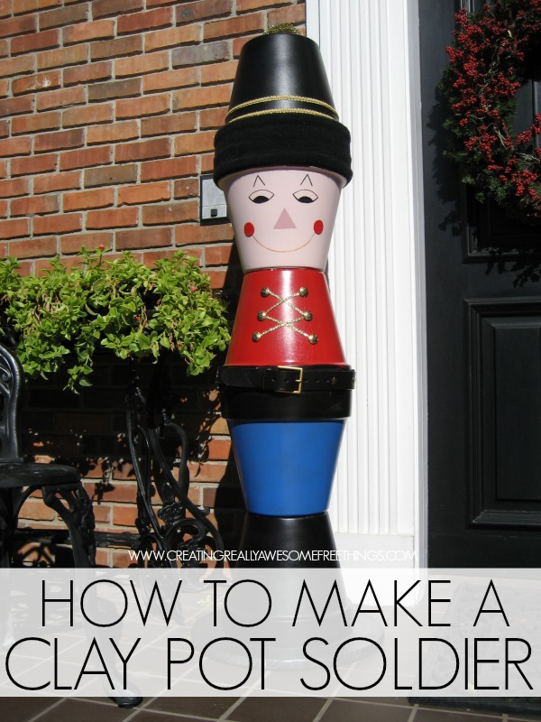 How to make a DIY clay pot soldier