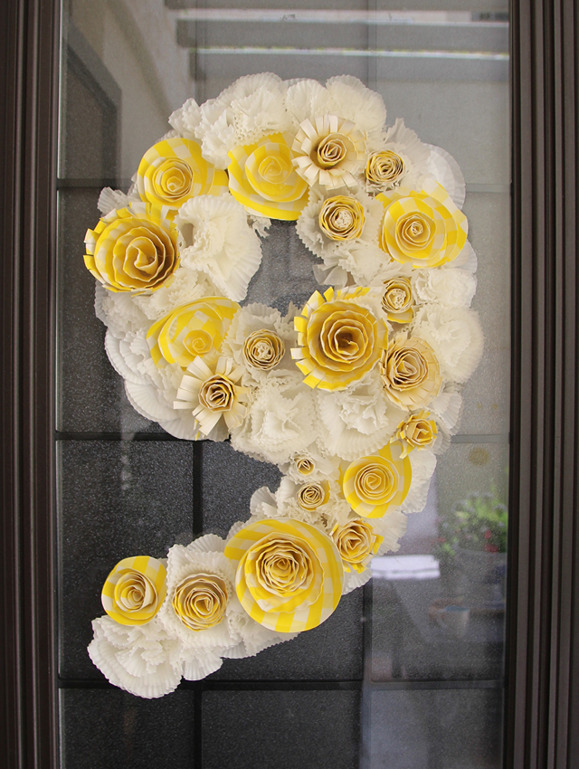 cupcake liner wreaths