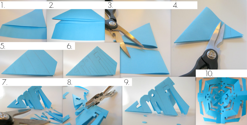How to cut a snowflake