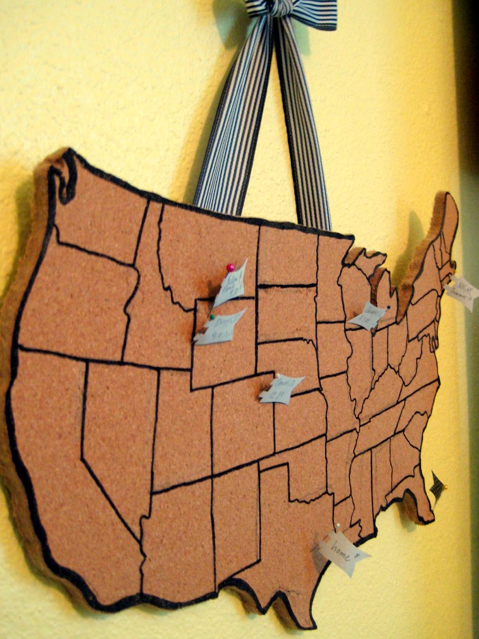 DIY United States cork board