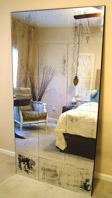 DIY antique mirror
