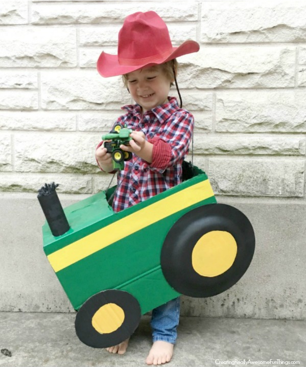 Cardboard box Tractor Costume