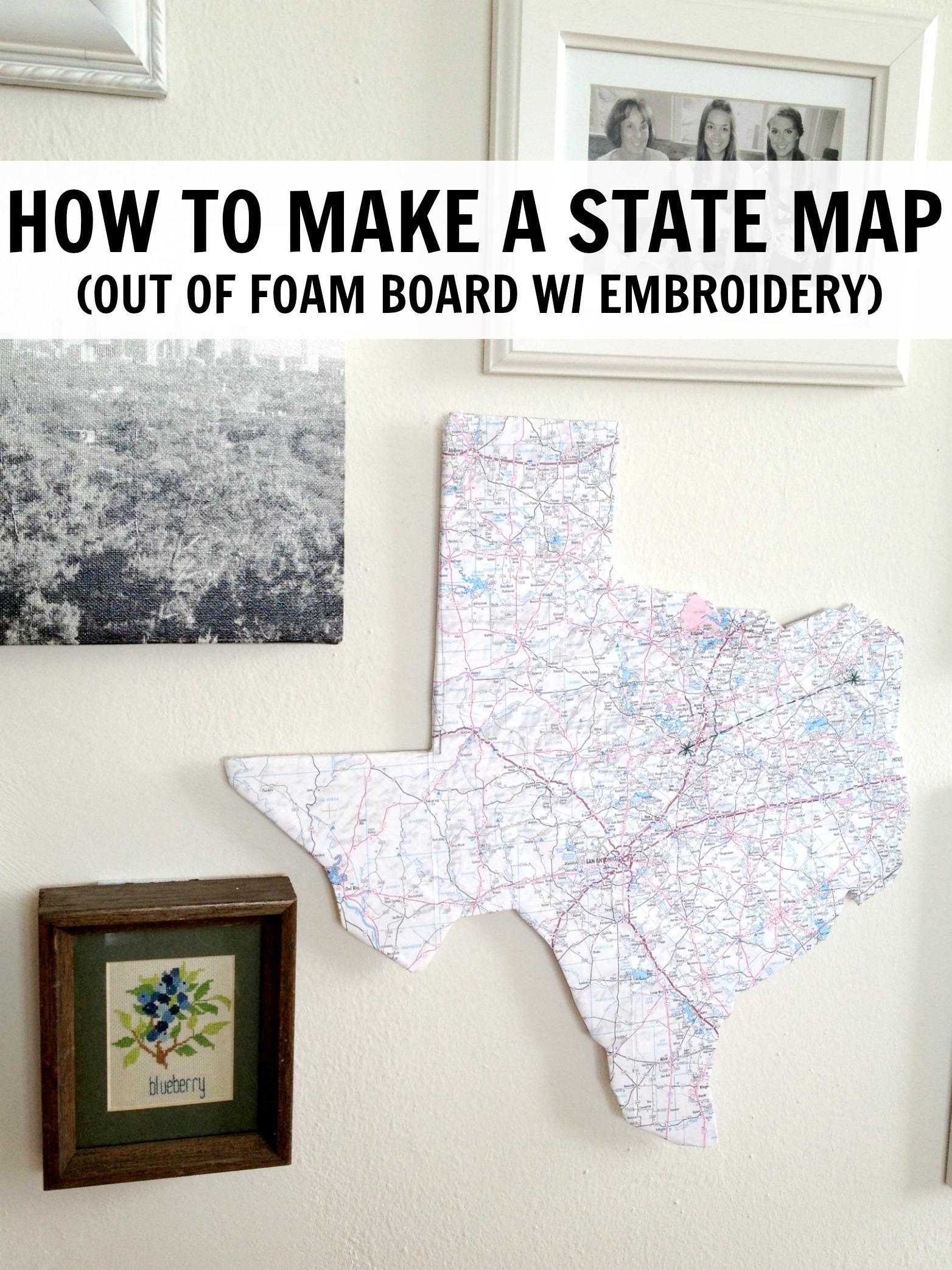 C R A F T 91 Tx State Map Love C R A F T