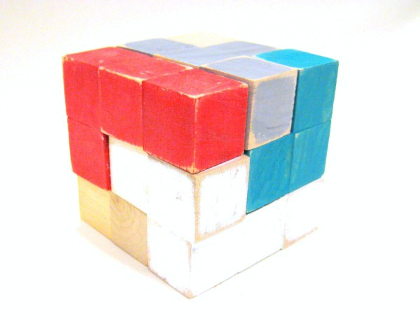 DIY puzzle cube... easy handmade gift!