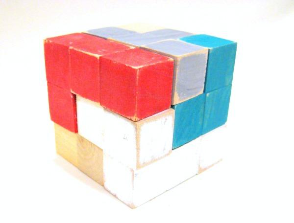 DIY puzzle cube... easy handmade gift!
