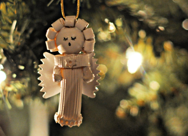 How to make an angel pasta ornament