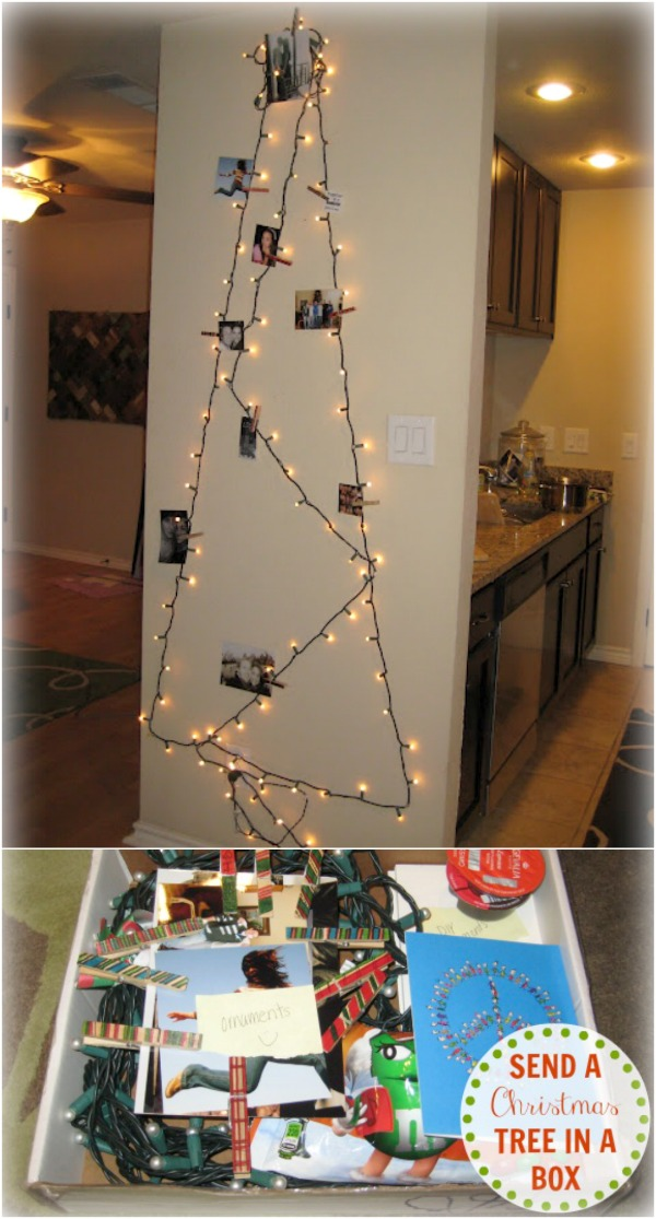 How to make a Christmas tree in a box