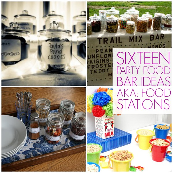 16 Food bar ideas