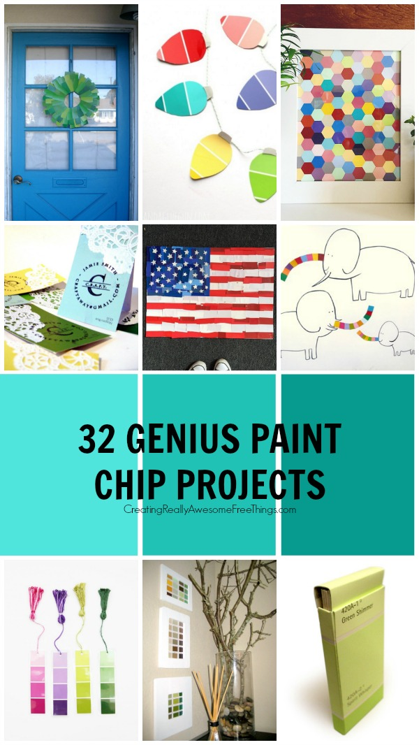 32 Genius Paint Chip Projects