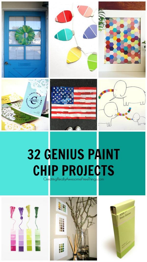 32 Genius Paint Chip Projects