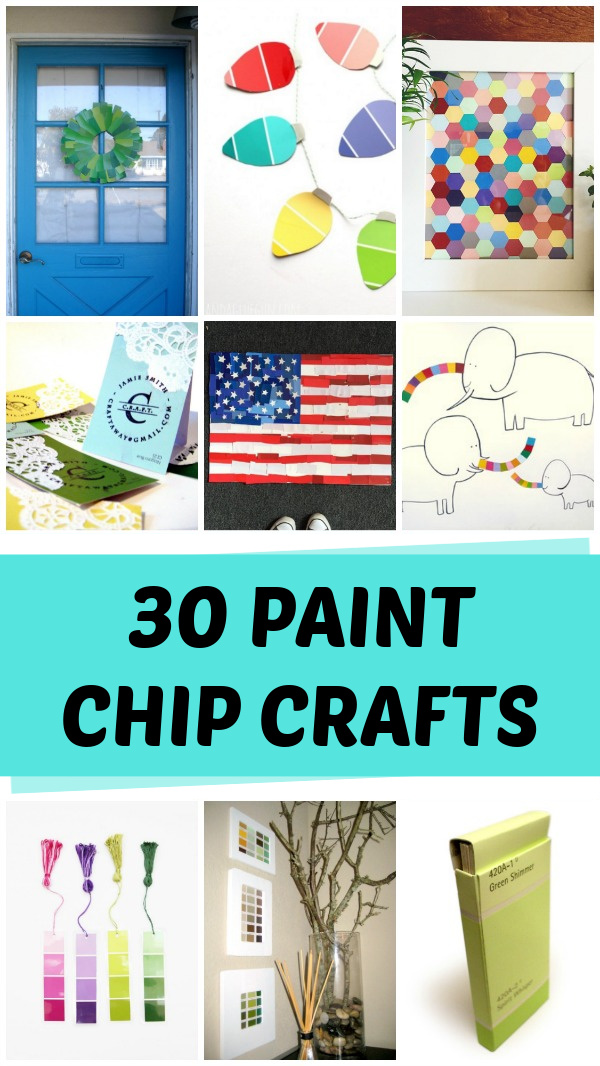 30 Clever paint chip crafts