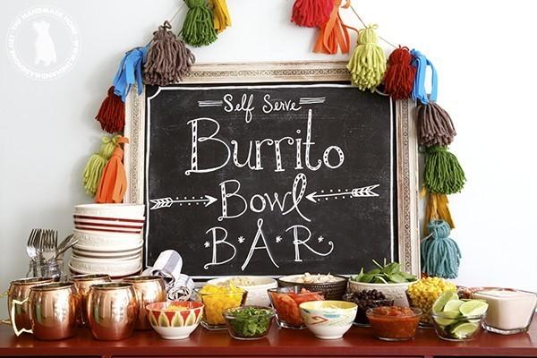 Burrito bowl food buffet idea