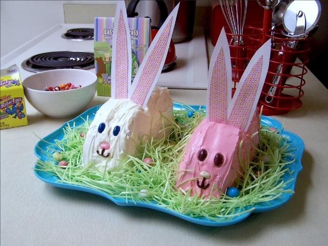 Easy bunny cakes