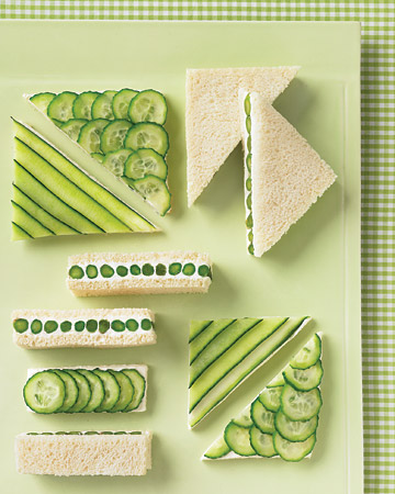 cucumber sandwiches for St. Patrick's Day