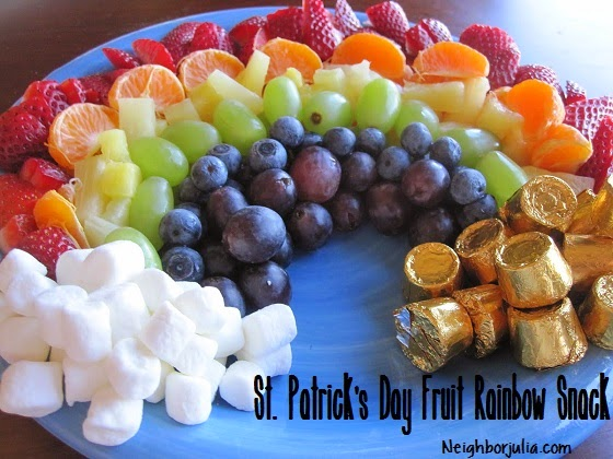 St. Patrick's Day fruit rainbow