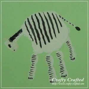 zebra handprint art for kids