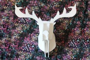 antlers out of foam board