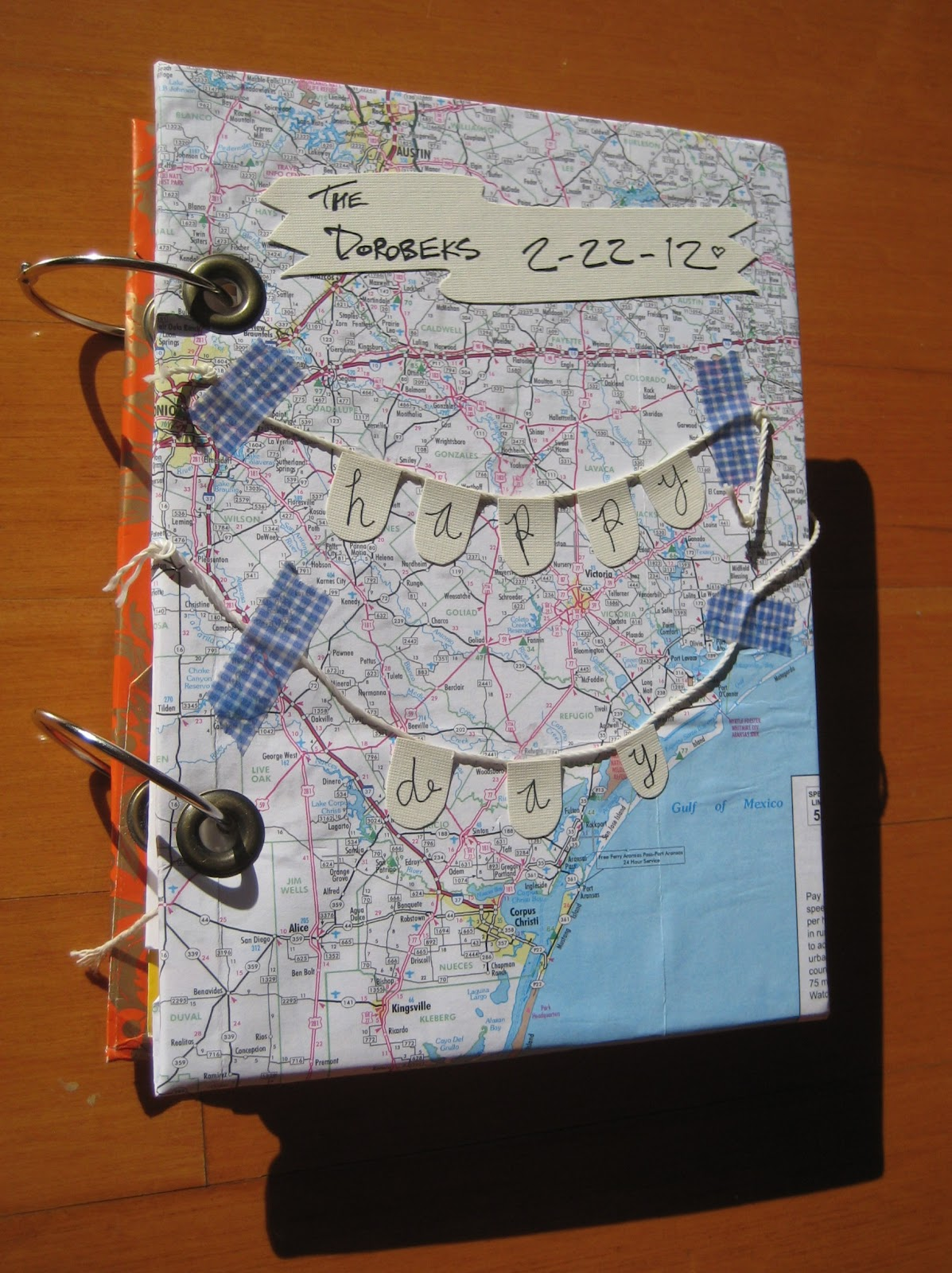 Organize greeting cards with binder rings - C R A F T