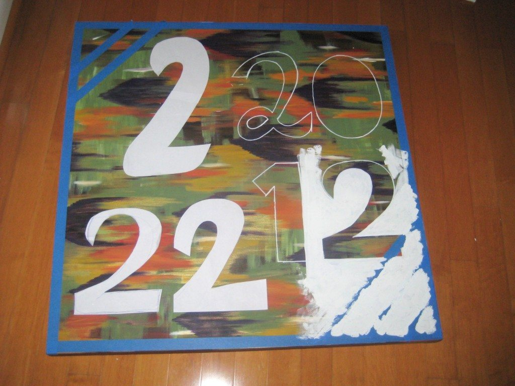 Wedding date canvas