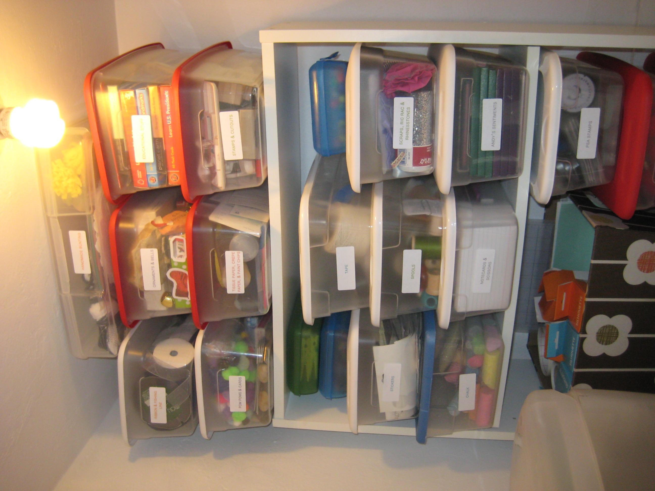 Craft Closet Organization