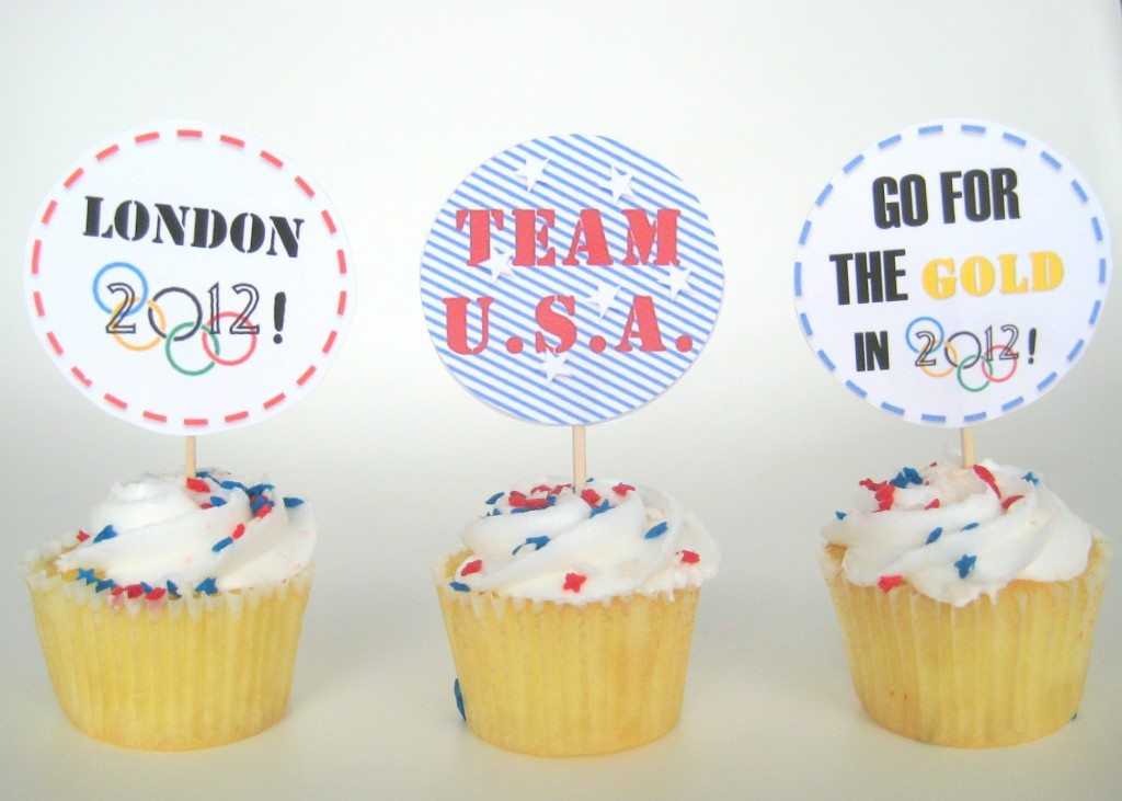 free olympic printable cupcake topper