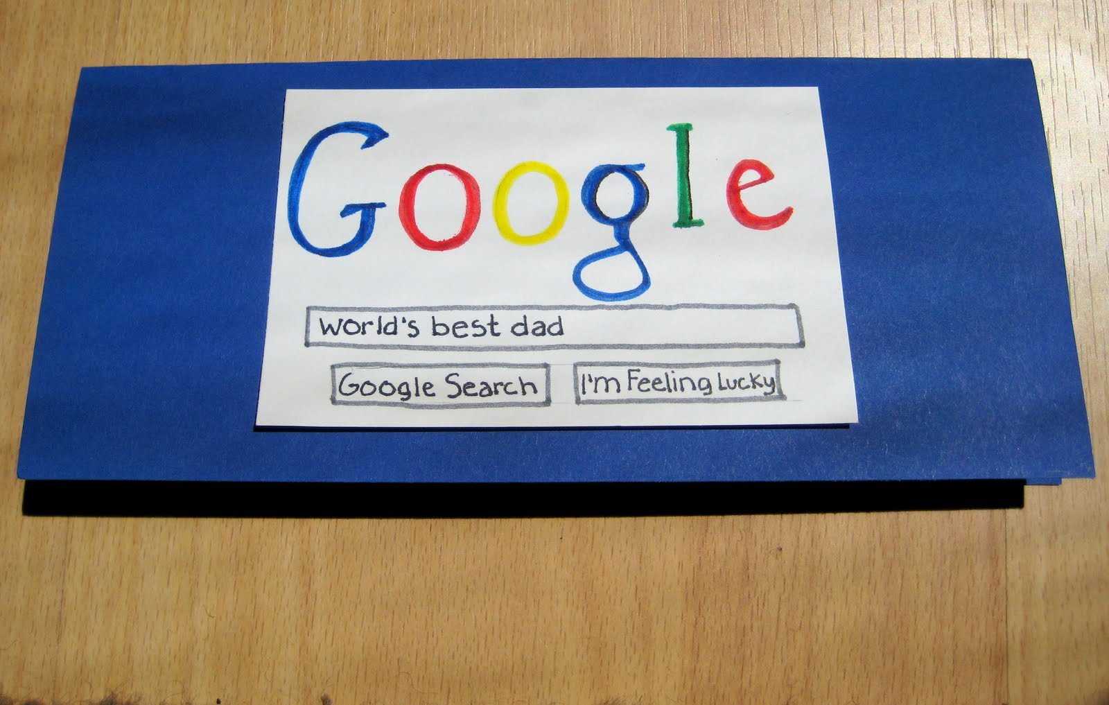 Handmade Google Father's Day Card