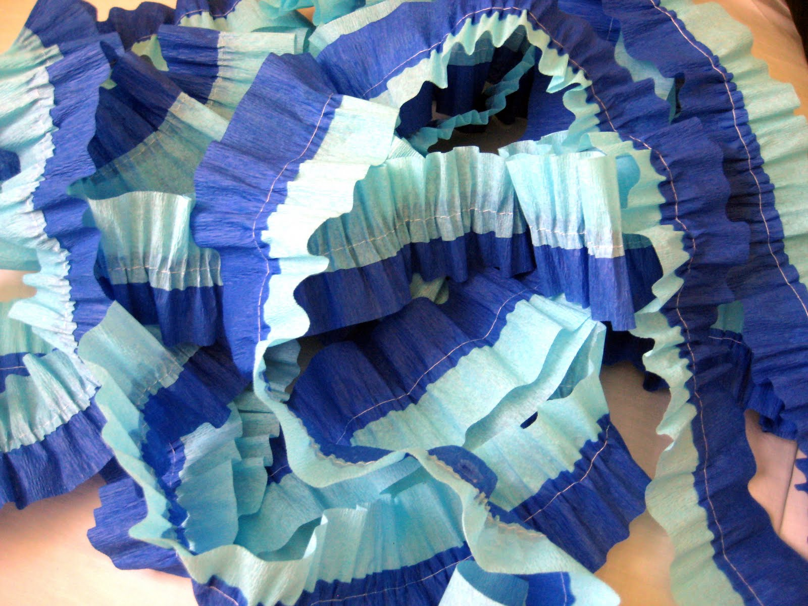 Baby Shower Ruffled Crepe Paper Party Streamers C R A F T