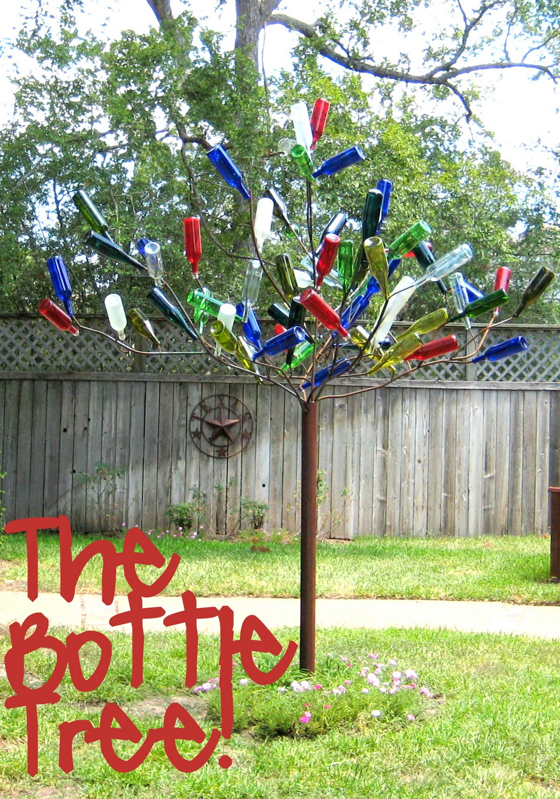 diy bottle tree c r a f t