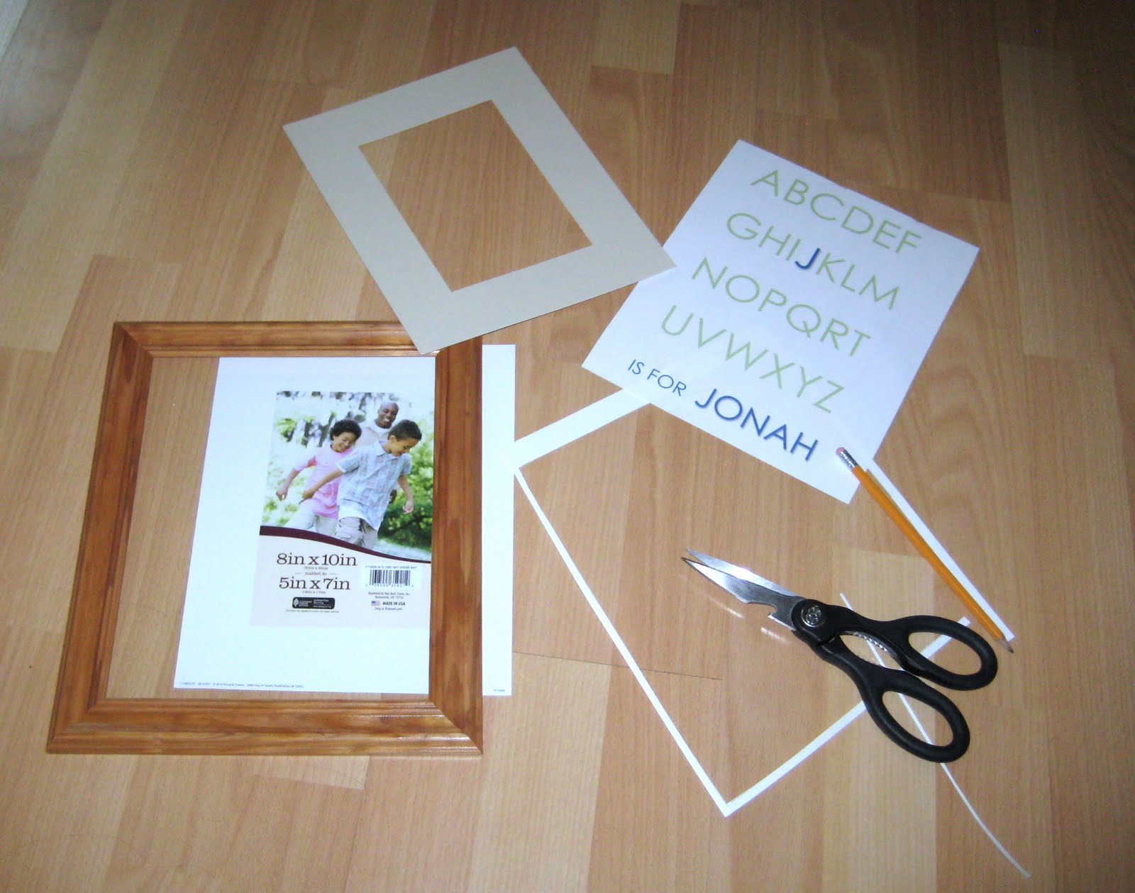 Craft 87 personalized baby shower gift craft as for the details the frame is an 810 from wal mart for 3 i printed it on 8 12 x 11 card stock and cut it down to fit the frame negle Images