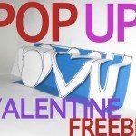 Valentine C.R.A.F.T. #8: Pop Up Card Freebie
