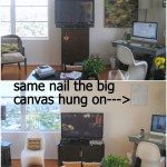 DIY Ikat Canvas Update (psuedo craft fail)