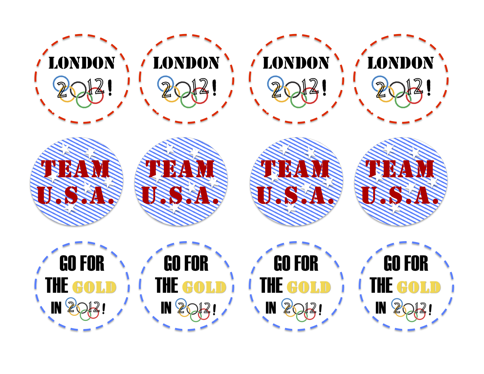 London 2012 Olympic Printables