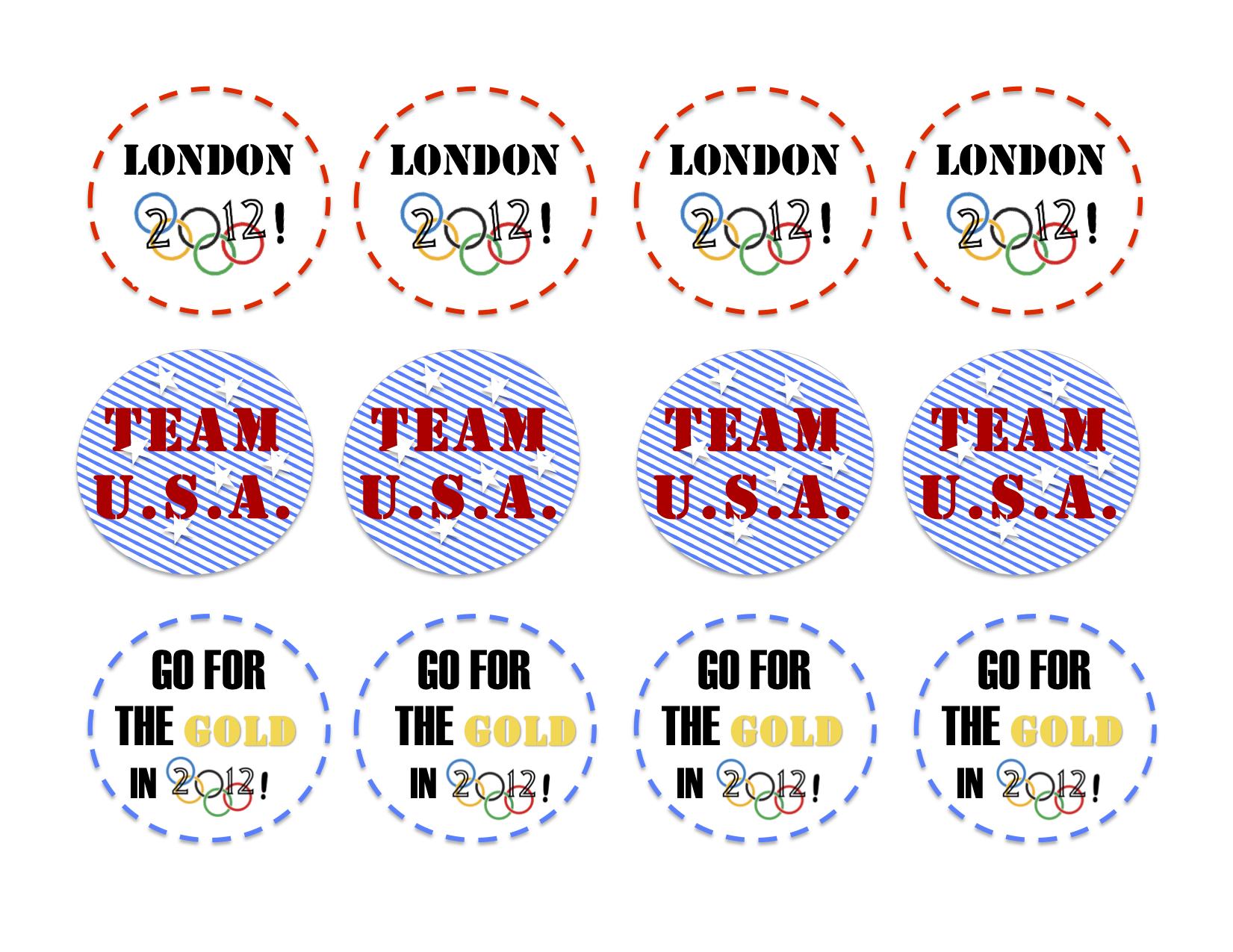 London 2012 Olympic Printables
