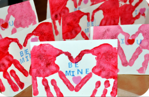 heart handprint craft